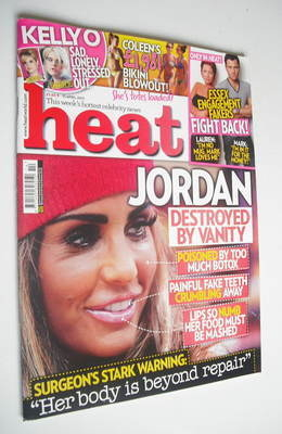 <!--2011-04-09-->Heat magazine - Jordan cover (9-15 April 2011)