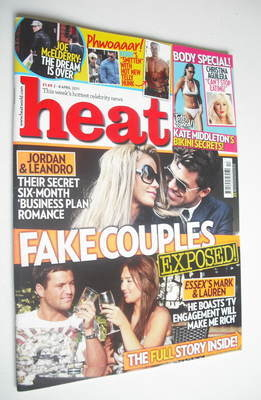 <!--2011-04-02-->Heat magazine - Fake Couples Exposed cover (2-8 April 2011