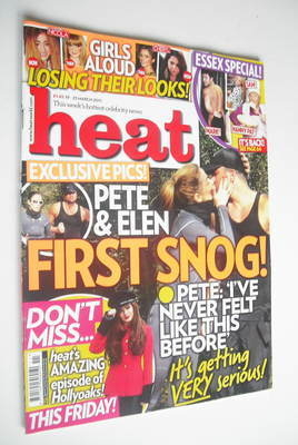 <!--2011-03-19-->Heat magazine - Peter Andre and Elen Rivas cover (19-25 Ma