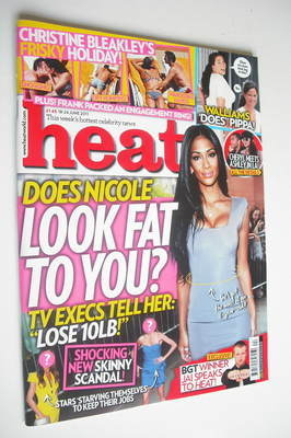 <!--2011-06-18-->Heat magazine - Nicole Scherzinger cover (18-24 June 2011)