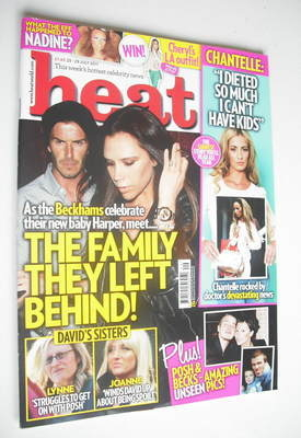 <!--2011-07-23-->Heat magazine - David and Victoria Beckham cover (25-29 Ju