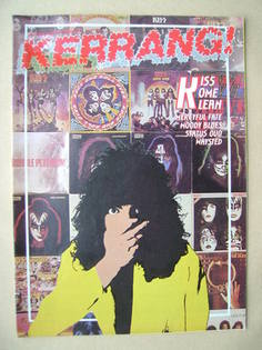 <!--1983-10-20-->Kerrang magazine - Kiss cover (20 October - 2 November 198