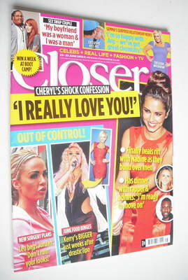 <!--2012-06-23-->Closer magazine - Cheryl Cole cover (23-29 June 2012)