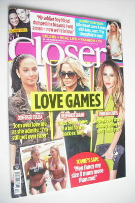 <!--2012-03-24-->Closer magazine - Love Games cover (24-30 March 2012)