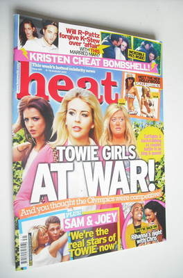 <!--2012-08-04-->Heat magazine - Towie Girls At War cover (4-10 August 2012