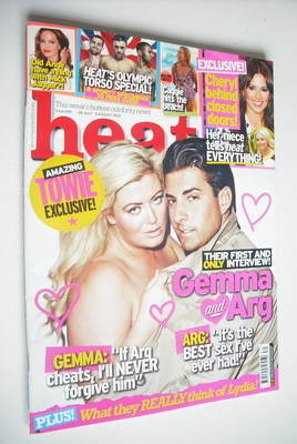 <!--2012-07-28-->Heat magazine - Gemma Collins and James Argent cover (28 J