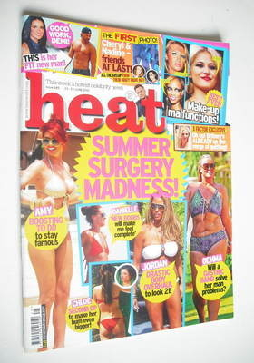 <!--2012-06-23-->Heat magazine - Summer Surgery Madness cover (23-29 June 2