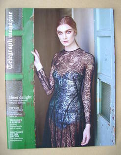 <!--2013-01-12-->Telegraph magazine - Marios Schwab dress cover (12 January