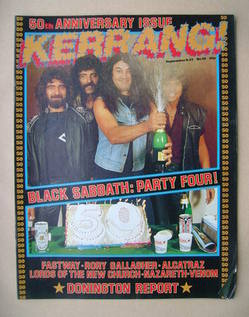 <!--1983-09-08-->Kerrang magazine - Black Sabbath cover (8-21 September 198
