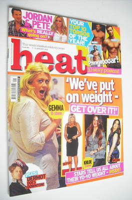 <!--2012-01-07-->Heat magazine - We've Put On Weight cover (7-13 January 20