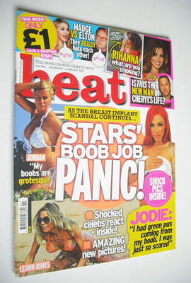 <!--2012-01-28-->Heat magazine - Boob Job Panic cover (28 January - 3 Febru