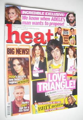 <!--2012-03-03-->Heat magazine - Love Triangle cover (3-9 March 2012)