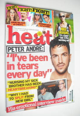 <!--2012-04-14-->Heat magazine - Peter Andre cover (14-20 April 2012)