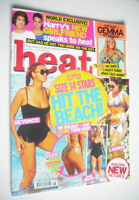 <!--2012-04-21-->Heat magazine - Size 14 Stars Hit The Beach cover (21-27 A