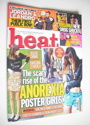 <!--2012-04-28-->Heat magazine - Anorexia Poster Girls cover (28 April - 4