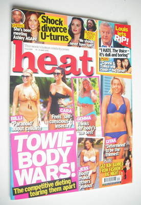 <!--2012-05-19-->Heat magazine - Towie Body Wars cover (19-25 May 2012)