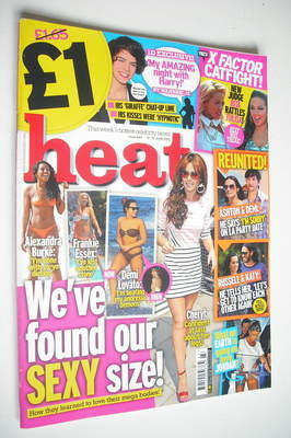 <!--2012-06-09-->Heat magazine - We've Found Our Sexy Size cover (9-15 June