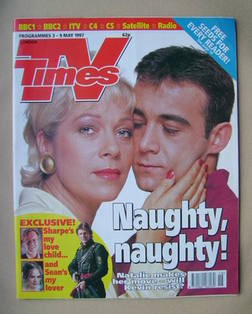 <!--1997-05-03-->TV Times magazine - Denise Welch and Michael Le Vell cover