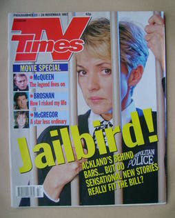 <!--1997-11-22-->TV Times magazine - Trudie Goodwin cover (22-28 November 1