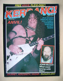 <!--1983-06-03-->Kerrang magazine - Anvil cover (3-16 June 1983 - Issue 43)