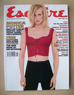 <!--1998-06-->Esquire magazine - Monica Potter cover (June 1998)