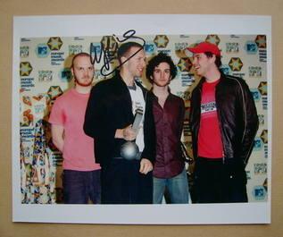 Chris Martin signed photo