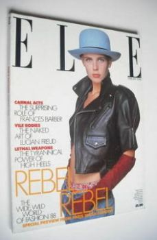 British Elle magazine - February 1988 - Jeny Howorth cover