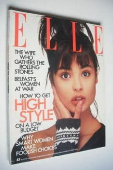 British Elle magazine - May 1986 - Talisa Soto cover