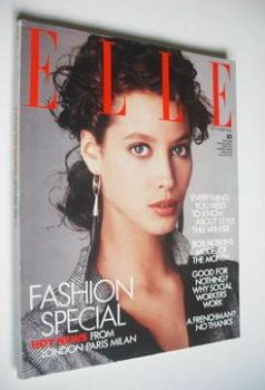 British Elle magazine - September 1986 - Christy Turlington cover