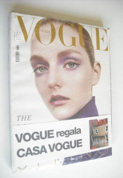 Vogue Italia magazine - April 2004 - Lydia Hearst-Shaw cover