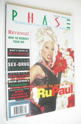 <!--1994-04-->Phase magazine - RuPaul cover (April 1994 - Issue 2)