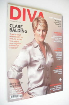 Diva magazine - Clare Balding cover (November 2012)