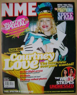 <!--2003-02-15-->NME magazine - Courtney Love cover (15 February 2003)