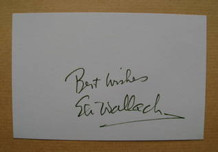 Eli Wallach autograph (hand-signed white card)