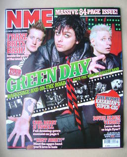 <!--2005-02-19-->NME magazine - Green Day cover (19 February 2005)