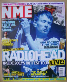 NME magazine - Thom Yorke cover (24 May 2003)