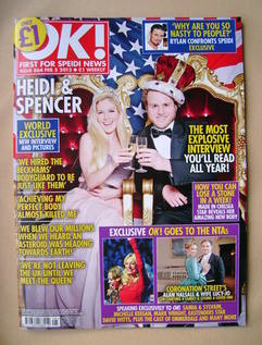 <!--2013-02-05-->OK! magazine - Heidi Montag and Spencer Pratt cover (5 Feb