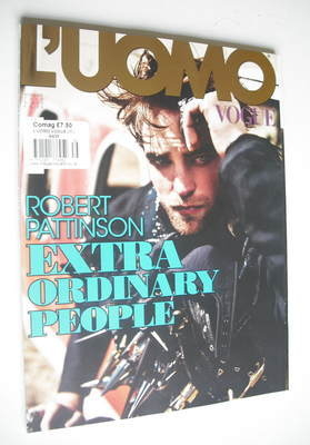 <!--2012-11-->L'Uomo Vogue magazine - November 2012 - Robert Pattinson cove