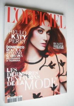 L'Officiel Paris magazine (September 2012 - Katy Perry cover)