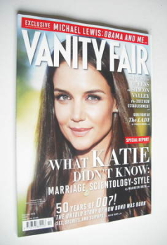 Vanity Fair magazine - Katie Holmes cover (October 2012)