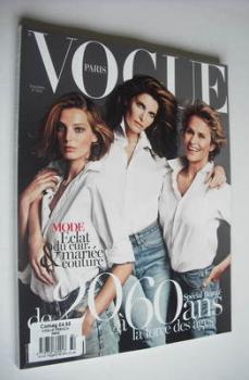 French Paris Vogue magazine - November 2012 - Stephanie Seymour, Daria Werbowy and Lauren Hutton cover