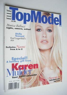 elle top model magazine karen mulder cover no 13. Black Bedroom Furniture Sets. Home Design Ideas