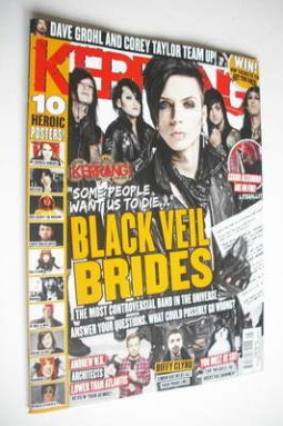 <!--2013-02-02-->Kerrang magazine - Black Veil Brides cover (2 February 201