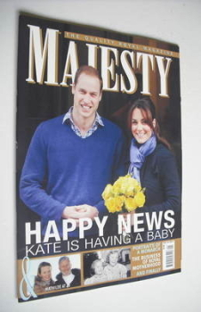 Majesty magazine - Prince William and Kate Middleton cover (January 2013)