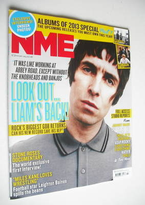 <!--2013-01-12-->NME magazine - Liam Gallagher cover (12 January 2013)