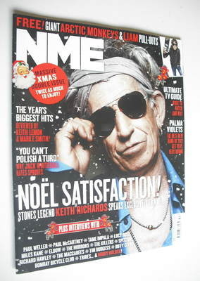 <!--2012-12-15-->NME magazine - Keith Richards cover (15/22 December 2012)