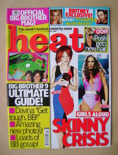 <!--2008-06-07-->Heat magazine - Nicola Roberts and Cheryl Cole cover (7-13