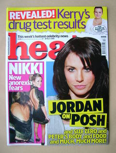 <!--2008-03-22-->Heat magazine - Jordan cover (22-28 March 2008 - Issue 467