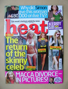 <!--2008-03-29-->Heat magazine - The Return of the Skinny Celeb cover (29 M