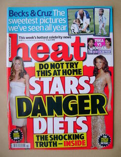 <!--2008-04-05-->Heat magazine - Stars' Danger Diets cover (5-11 April 2008